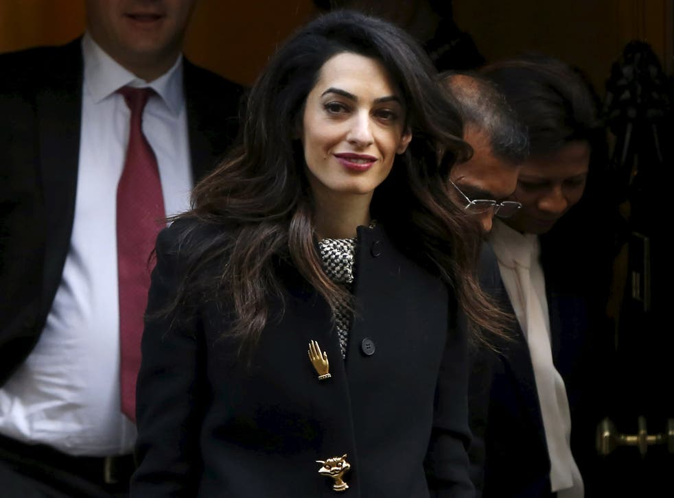 Amal Clooney leaves Downing Street as she fights for freedom for political prisoners in the Maldives. The human rights lawyer and the country's outsted president Mohamed Nasheed, joined the Prime Minister for talks in No 10 as they called for continued pressure against the regime