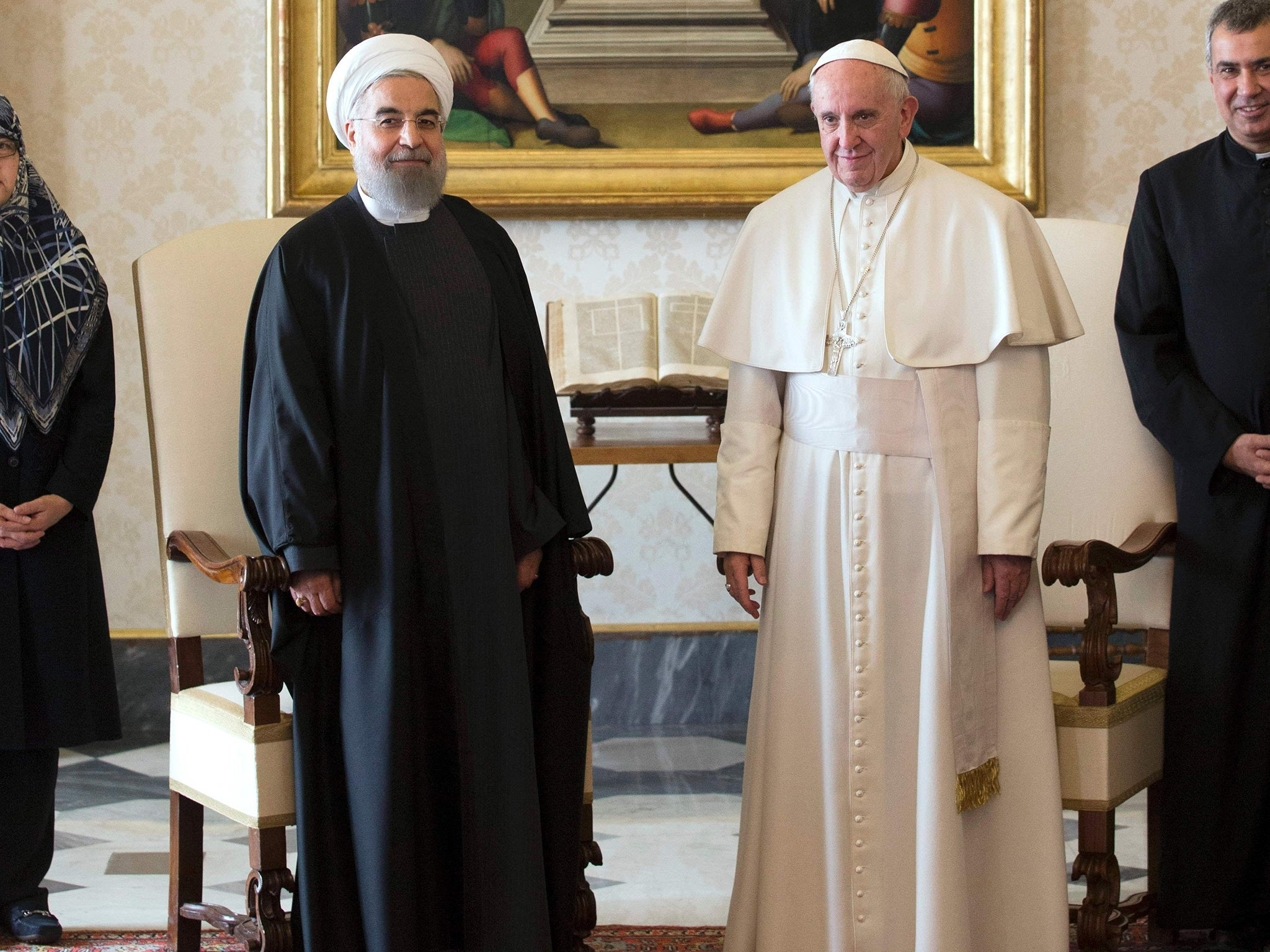 italy covers naked statues during iran president hassan rouhani s