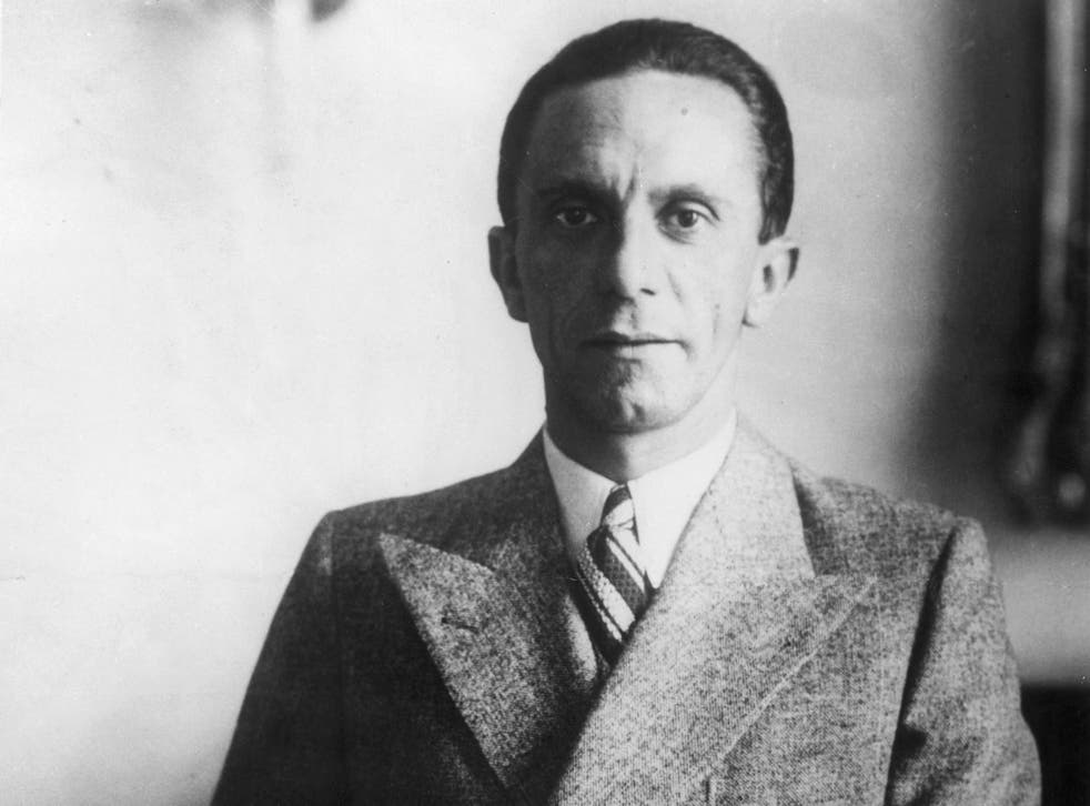 Joseph Goebbels served as Nazi Germany's minister for propaganda from 1933 to 1945