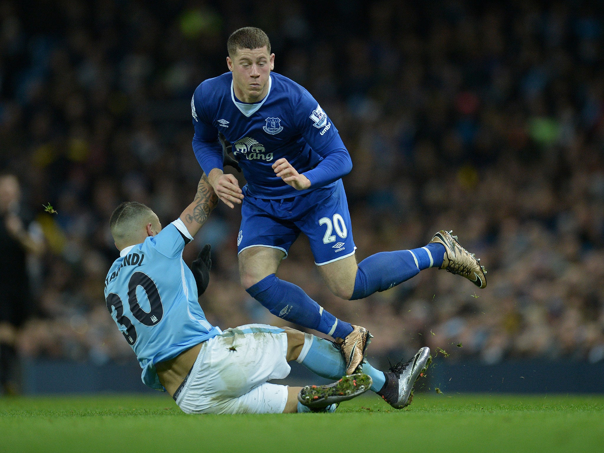 4e79b4c83 Manchester City 3 Everton 1  Ross Barkley nudges Yaya Toure into past but  his future looks beyond Goodison