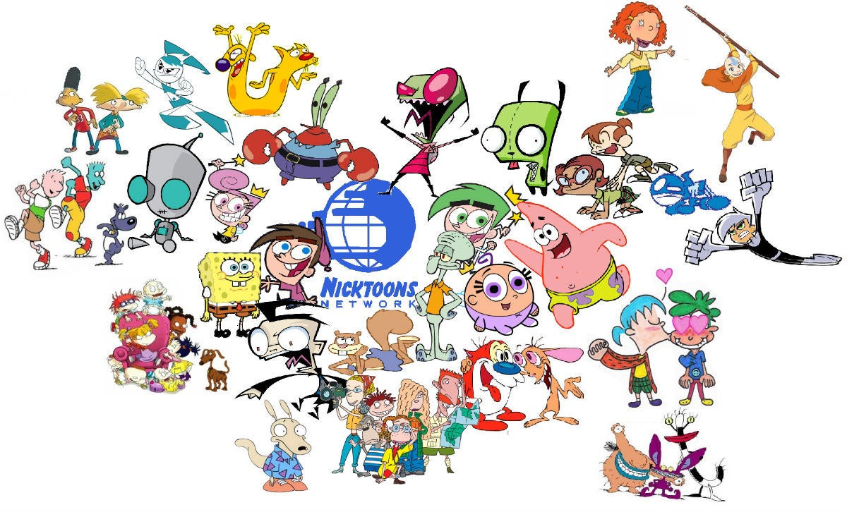 nicktoons all your favourite nickelodeon characters are