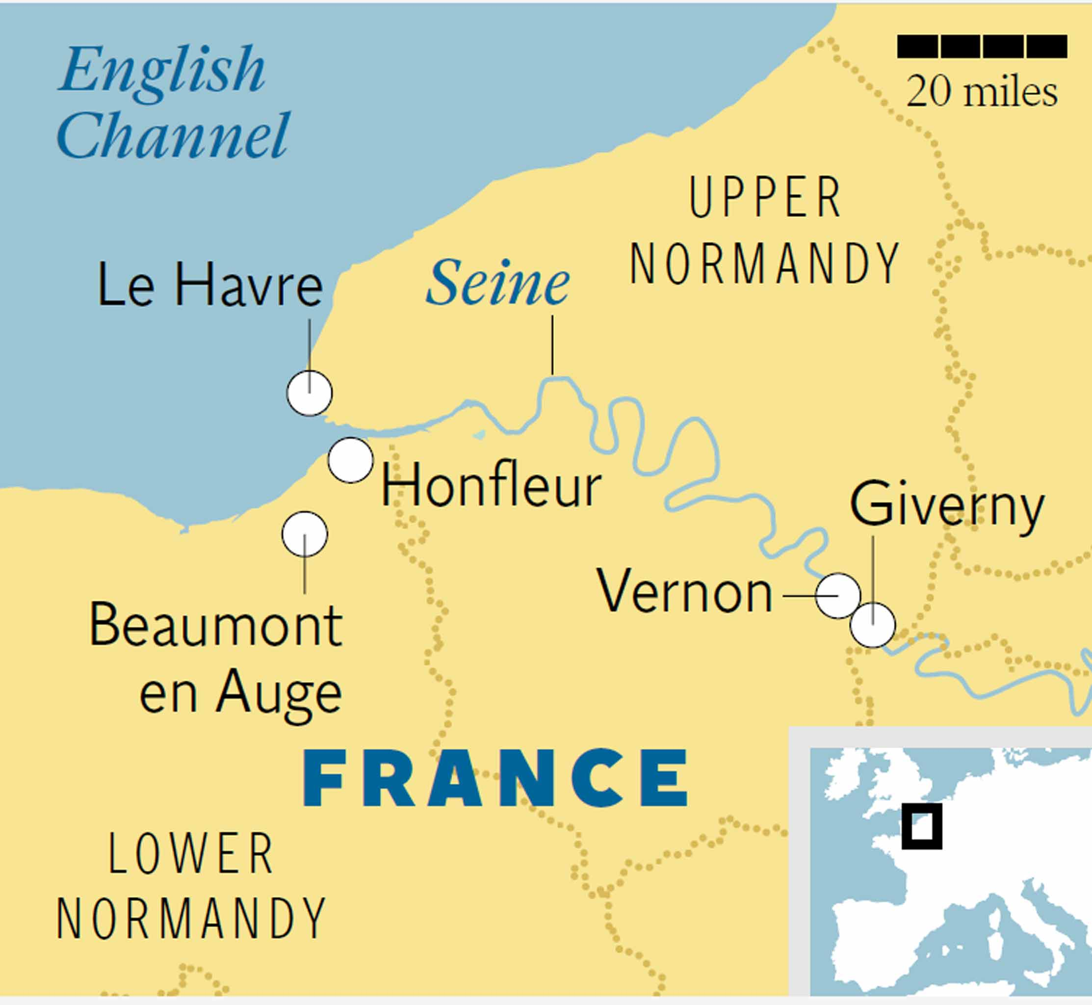 On the trail of Monet and the Impressionists in northern France ...