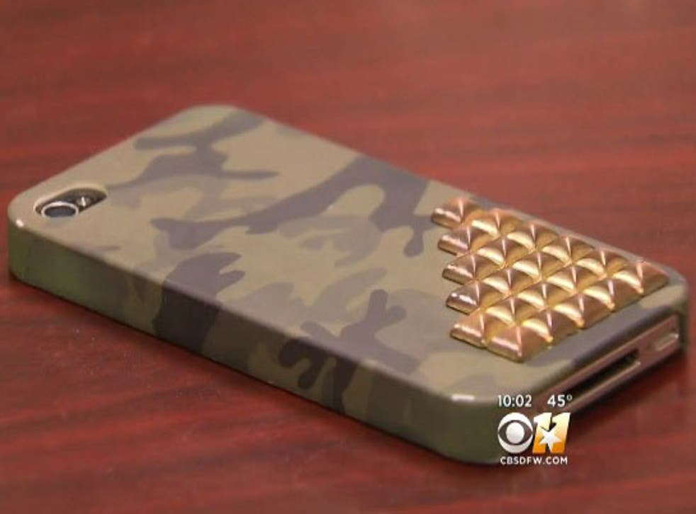 The iPhone 4 Ronald Jackson confiscated from his then 12-year-old daughter when he found a rude text on it