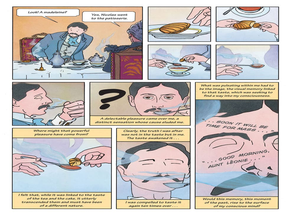 Memories: a tea-soaked madeleine helps the narrator to relive the past in the graphic version of Proust's classic work