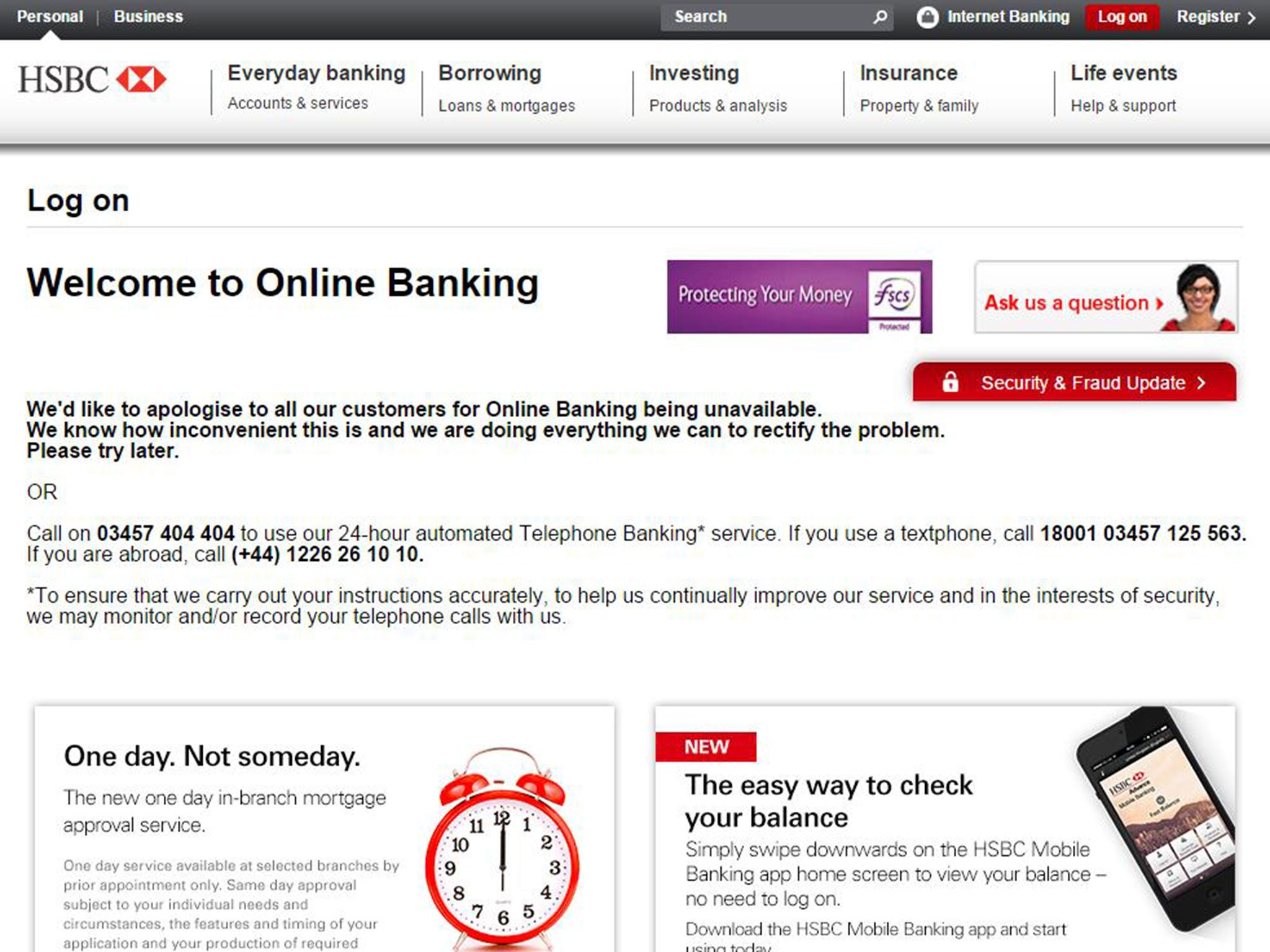 HSBC down: Online banking and other services hit by