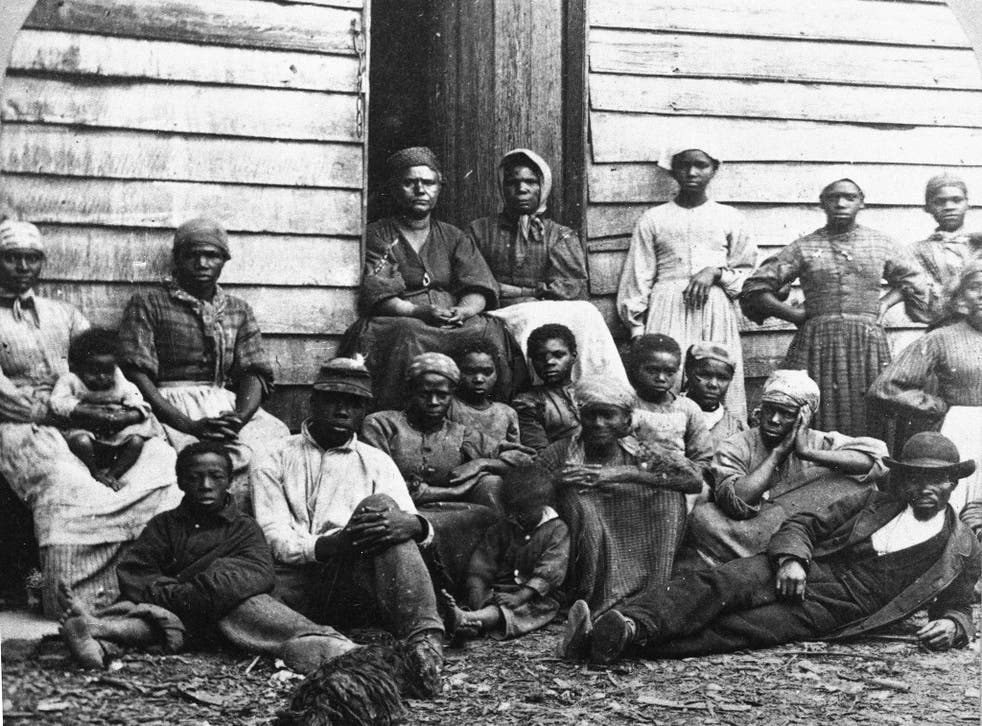 Escaped slaves - who were emancipated when they reached the North - in the mid-1860s in Freedman's Village, Virginia