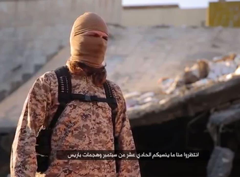 A still from a recent ISIS propaganda video