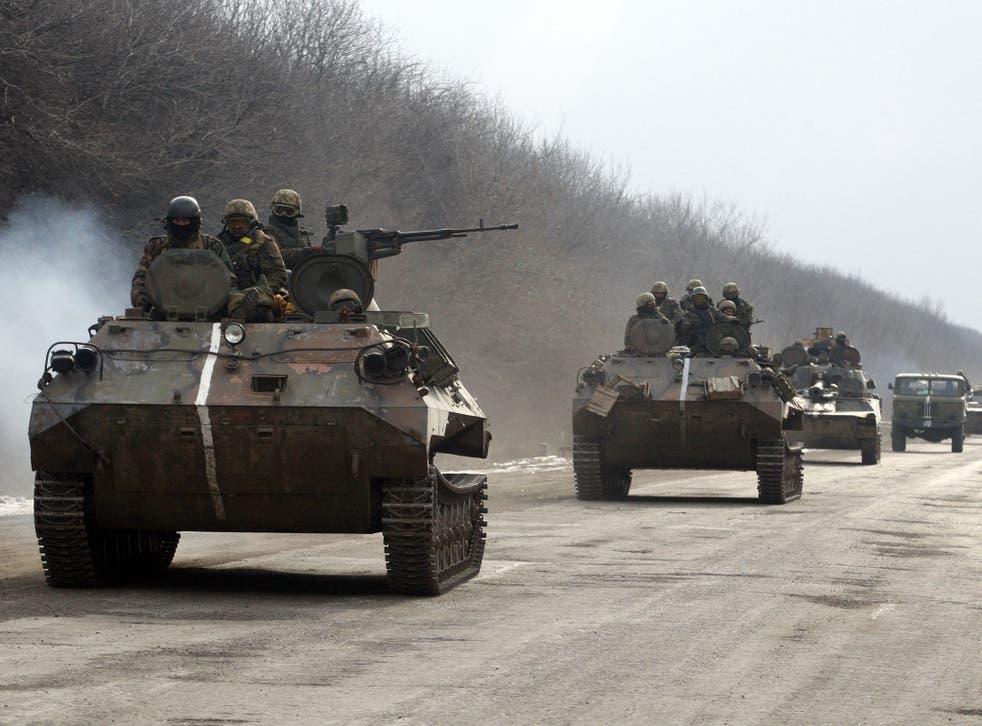 Ukrainian forces in the Donetsk region