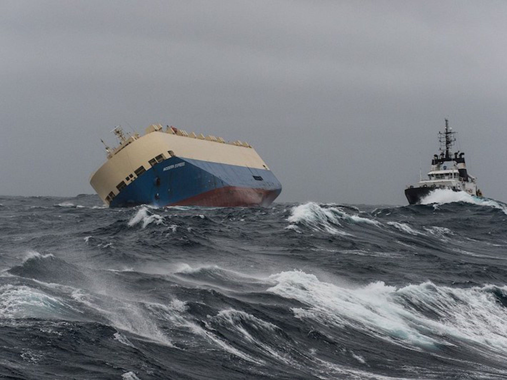 Unmanned cargo ship carrying 300 tons of diesel set to run aground on French Atlantic coast