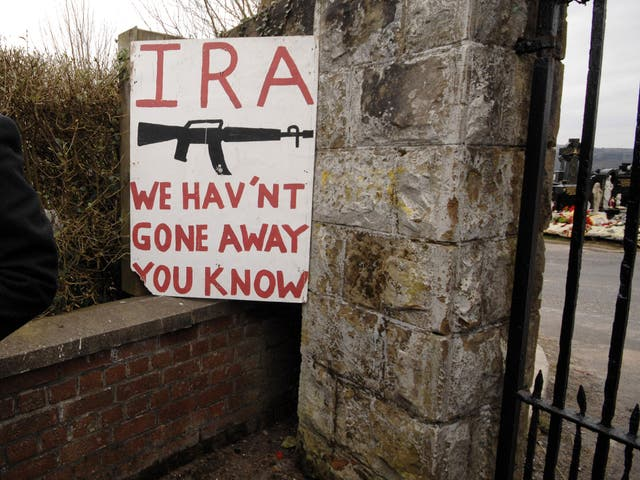 Pro IRA sign outside the City Cemetery, Derry, Northern Ireland