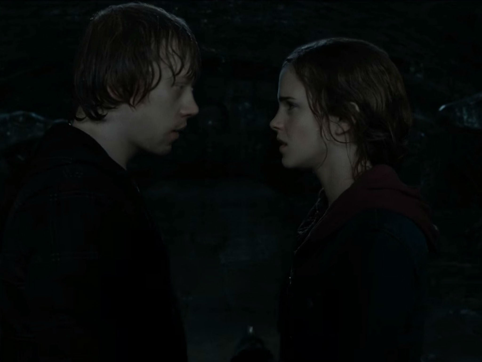 Rupert Grint was really unimpressed by that Emma Watson kiss