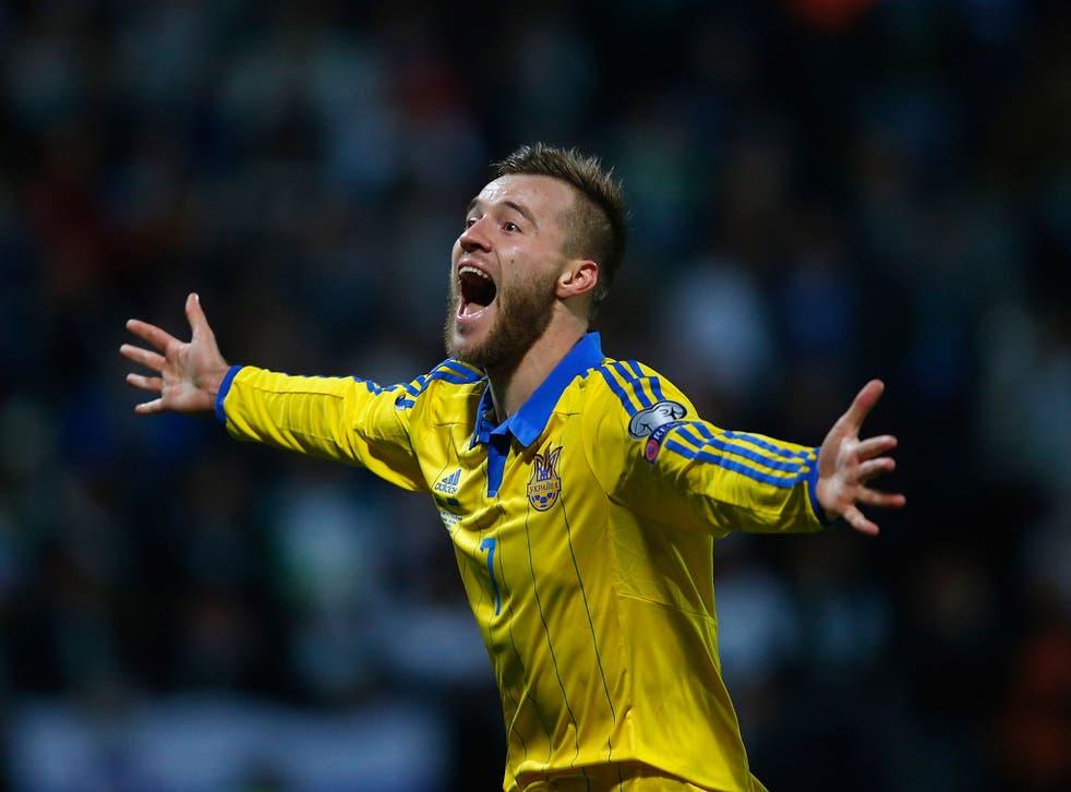 Ukraine winger Andriy Yarmolenko