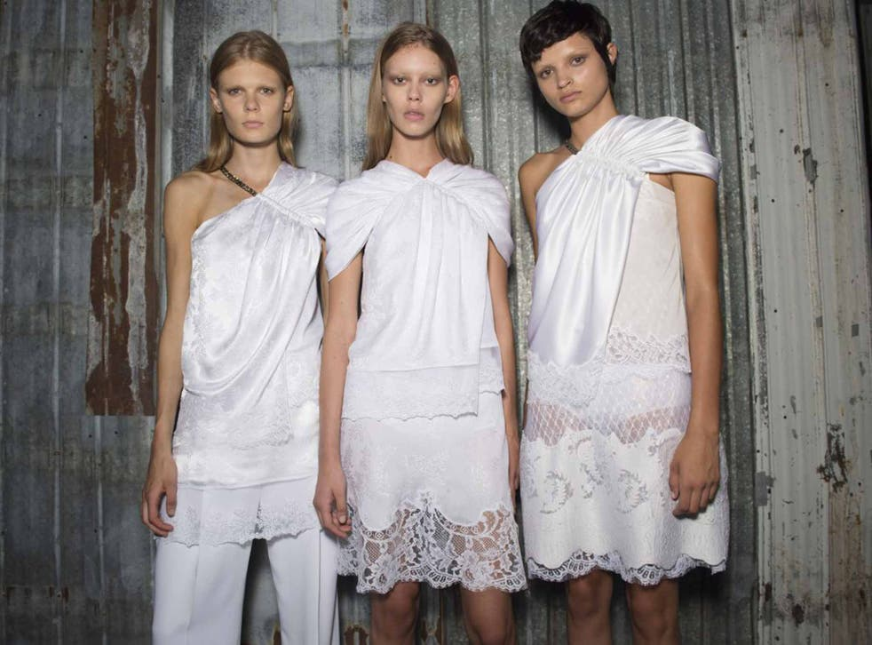 Lingerie inspired spring/summer 2016 fashion by Givenchy