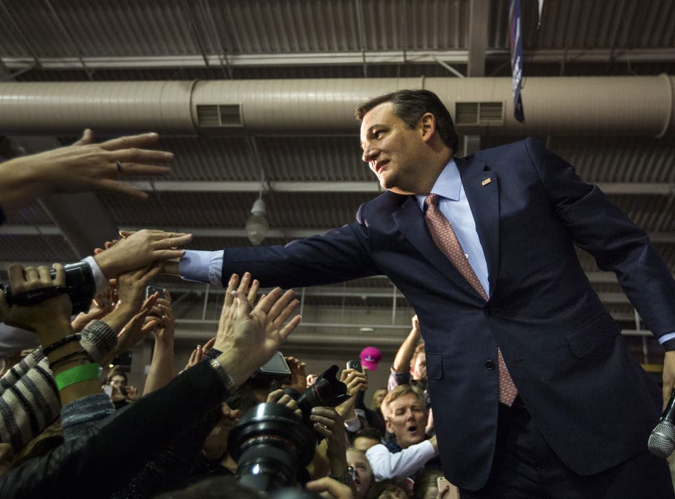 US Republican presidential candidate Ted Cruz greets supporters after winning Iowa's much coveted caucus.