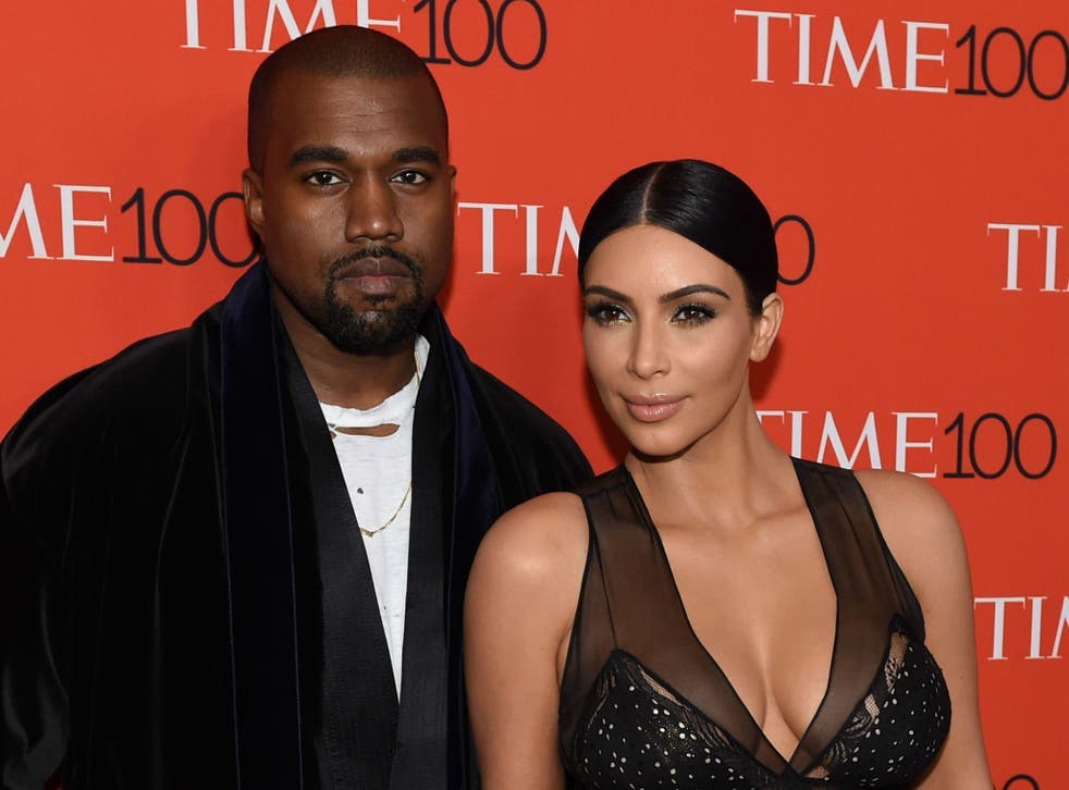 West and Kardashian at the TIME 100 gala in 2015