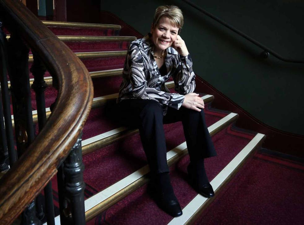 Proud step: Marin Alsop relaxes at the Royal Albert Hall in August 2013