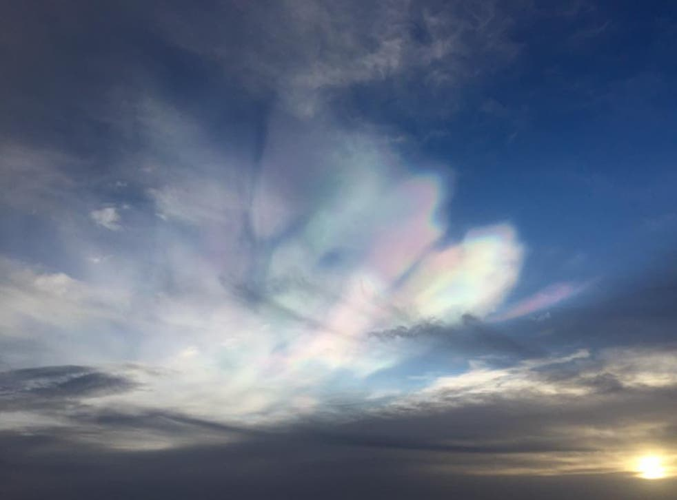 Nathan Wilson managed to capture the rare phenomenon on camera from Norwich airport's air traffic control tower
