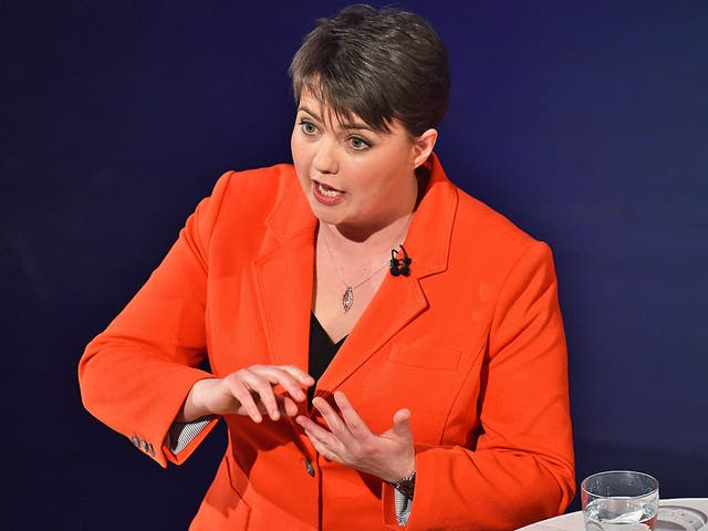 Leader of the Scottish Conservatives, Ruth Davidson: 'Grudge and grievance will no longer wash'