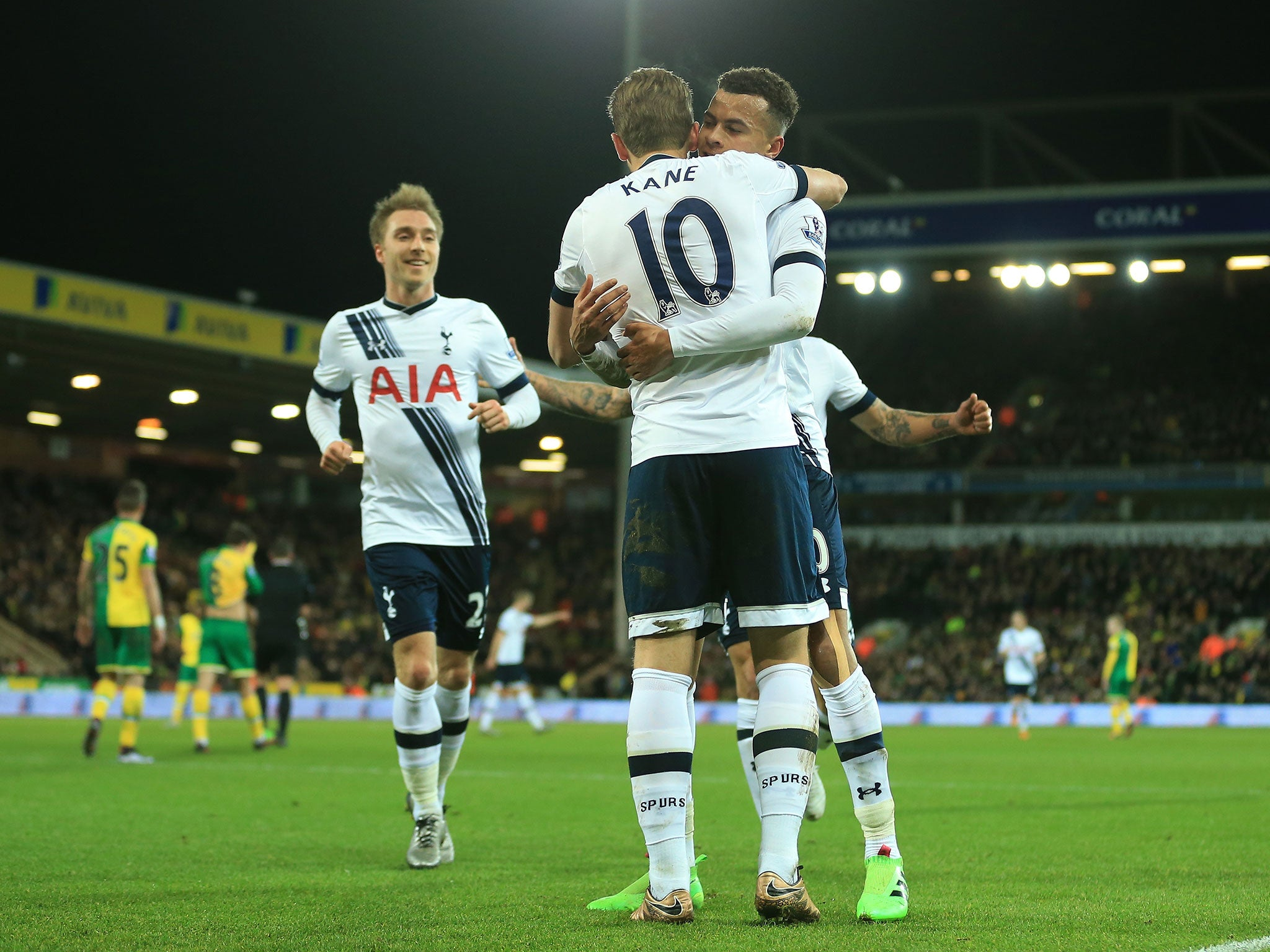 Norwich Vs Tottenham Match Report Harry Kane Double Adds To Dele Alli Opener The Independent Independent