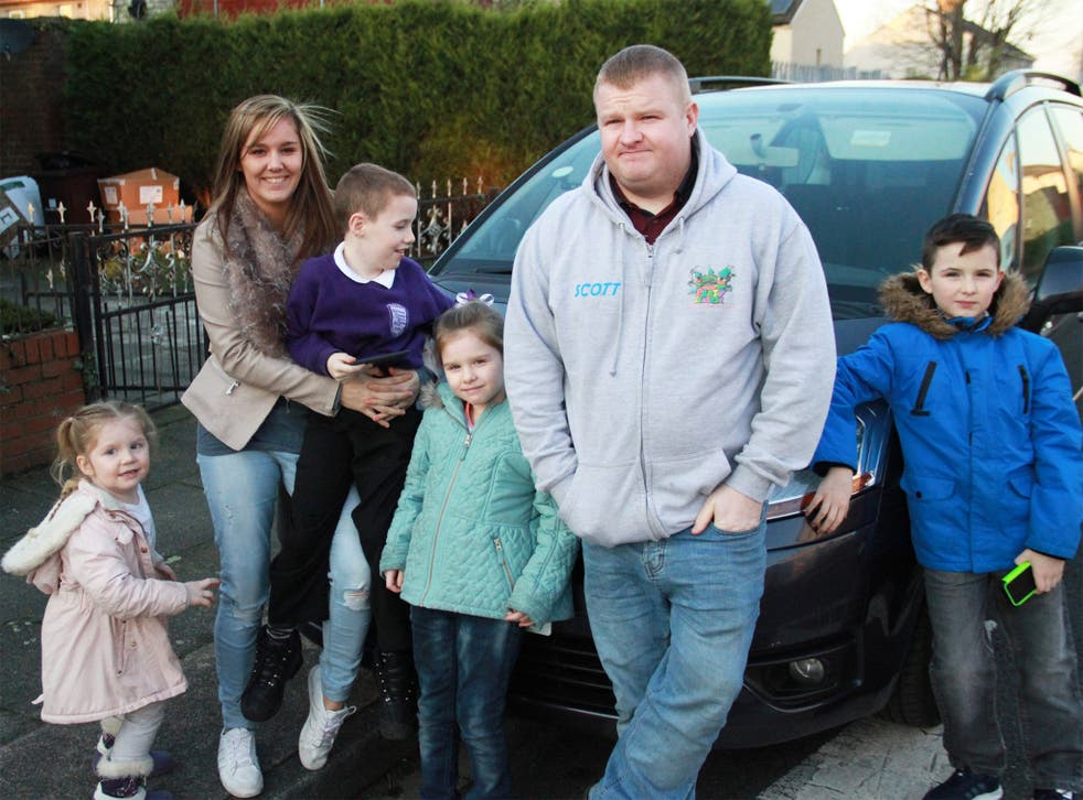 'The Big Benefits Handout' participants Scott, Leanne and their children