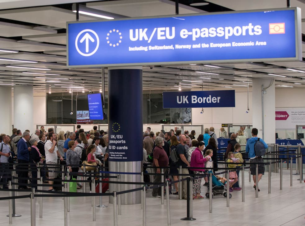 Ms May insists the idea 'everybody can walk into the UK' is wrong