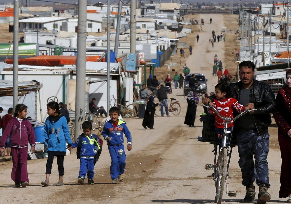 Nearly 80,000 refugees are living at the Al Zaatari refugee camp in Jordan