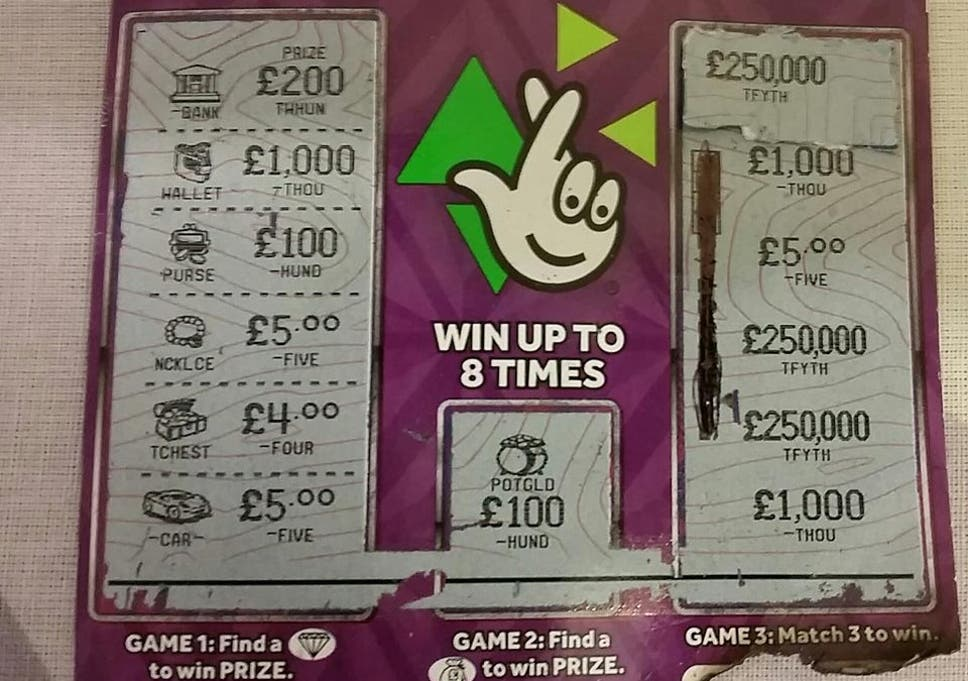 National lottery instant wins prizes remaining