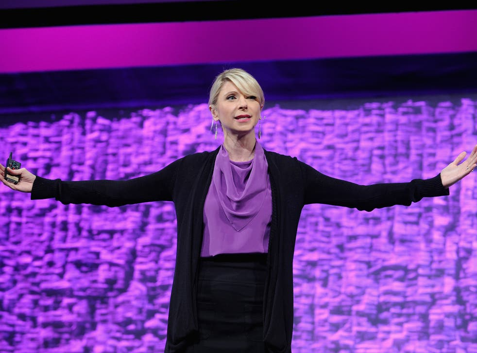 Amy Cuddy speaks onstage during Cosmopolitan Magazine's Fun Fearless Life Conference