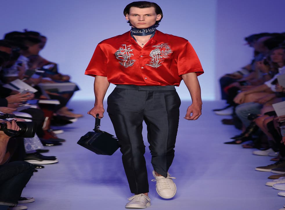 Kim Jones embroidered monkeys on shirts for his spring/summer Louis Vuitton collection