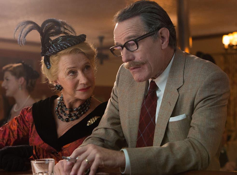 Writer blocked: Helen Mirren and Bryan Cranston in 'Trumbo'