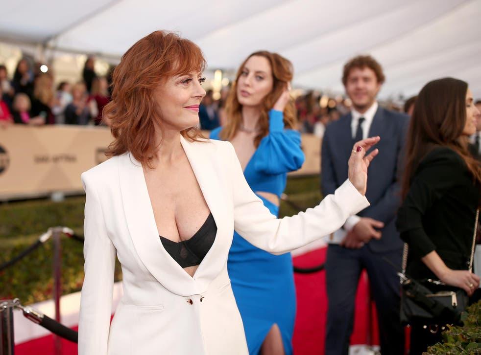 Susan Sarandon's head-turning appearance at the Screen Actors Guild (SAG) awards
