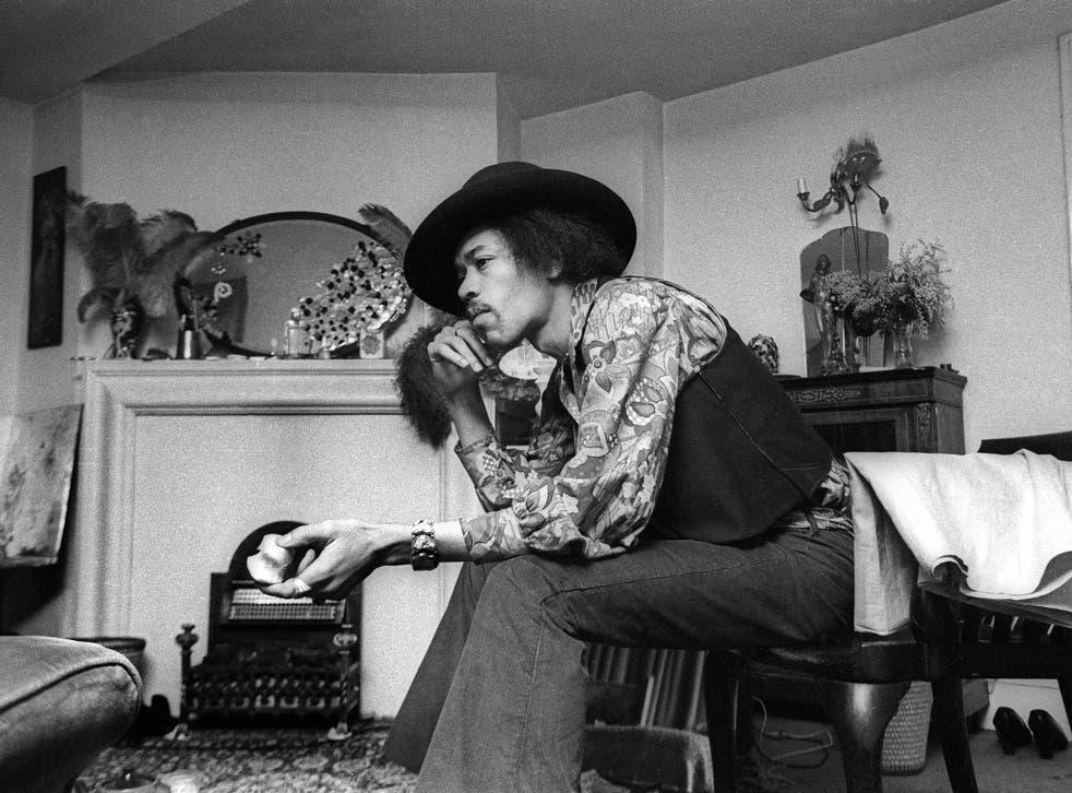 Jimi Hendrix at 23 Brook Street, 1969