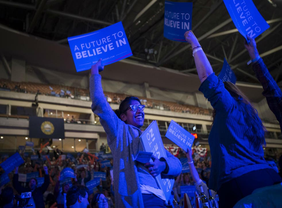 Mr Sanders told the crowd to prepare for a political revolution