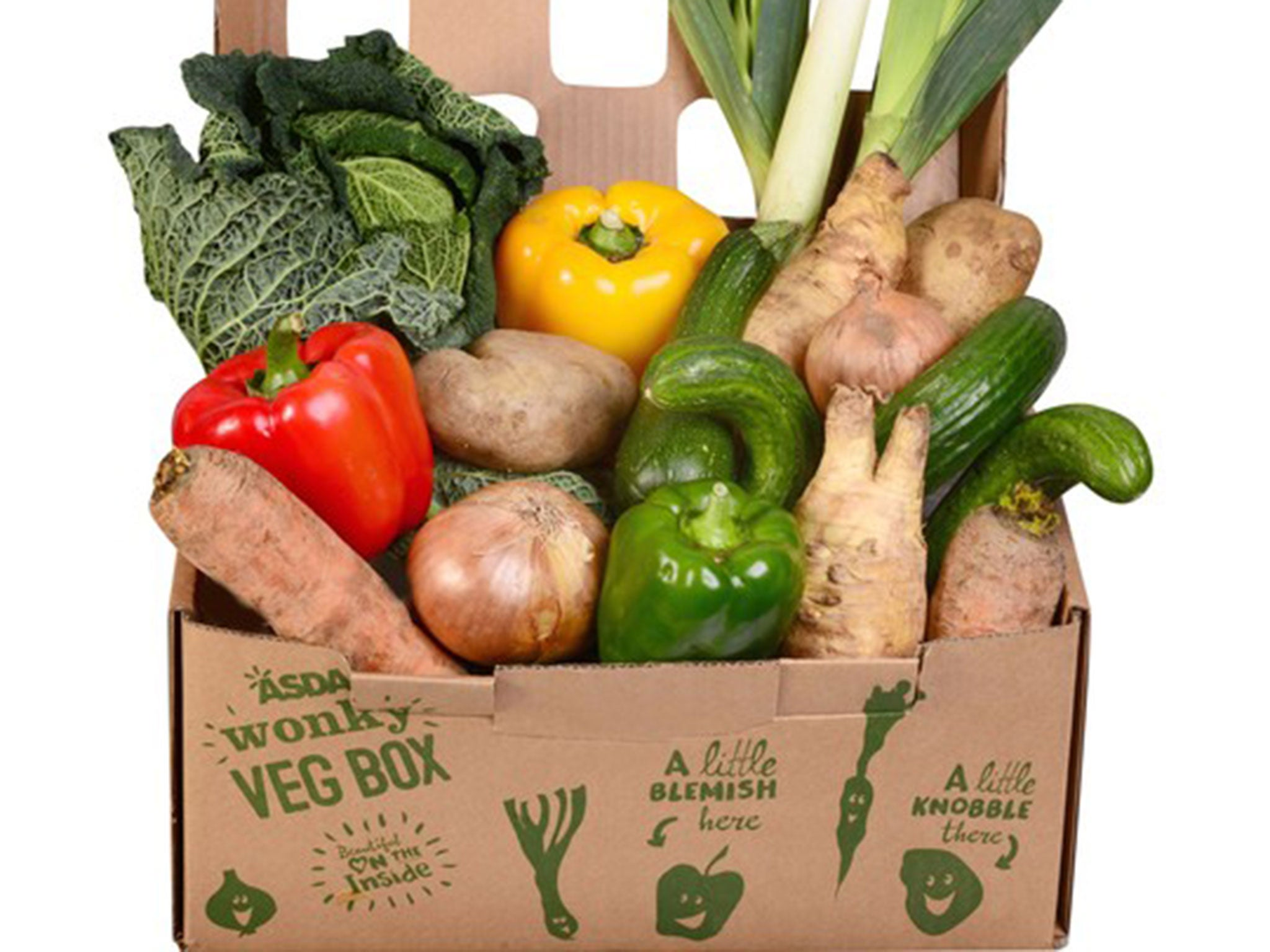 Asda To Become First UK Supermarket To Sell Wonky Veg Boxes | The  Independent