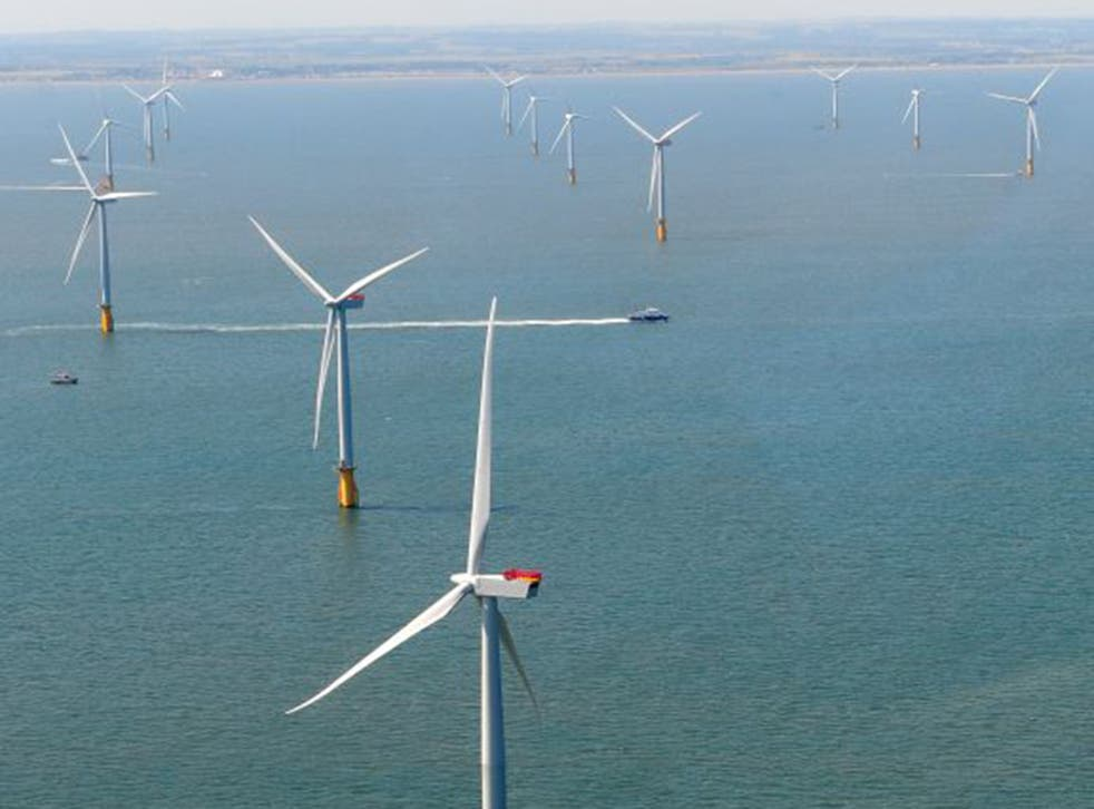 The biggest cluster of offshore wind farms in Europe lies off Grimsby