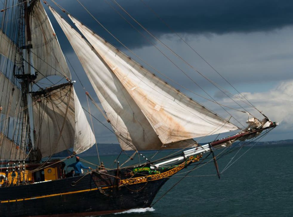 The Tres Hombres is used to transport rum, chocolate and coffee