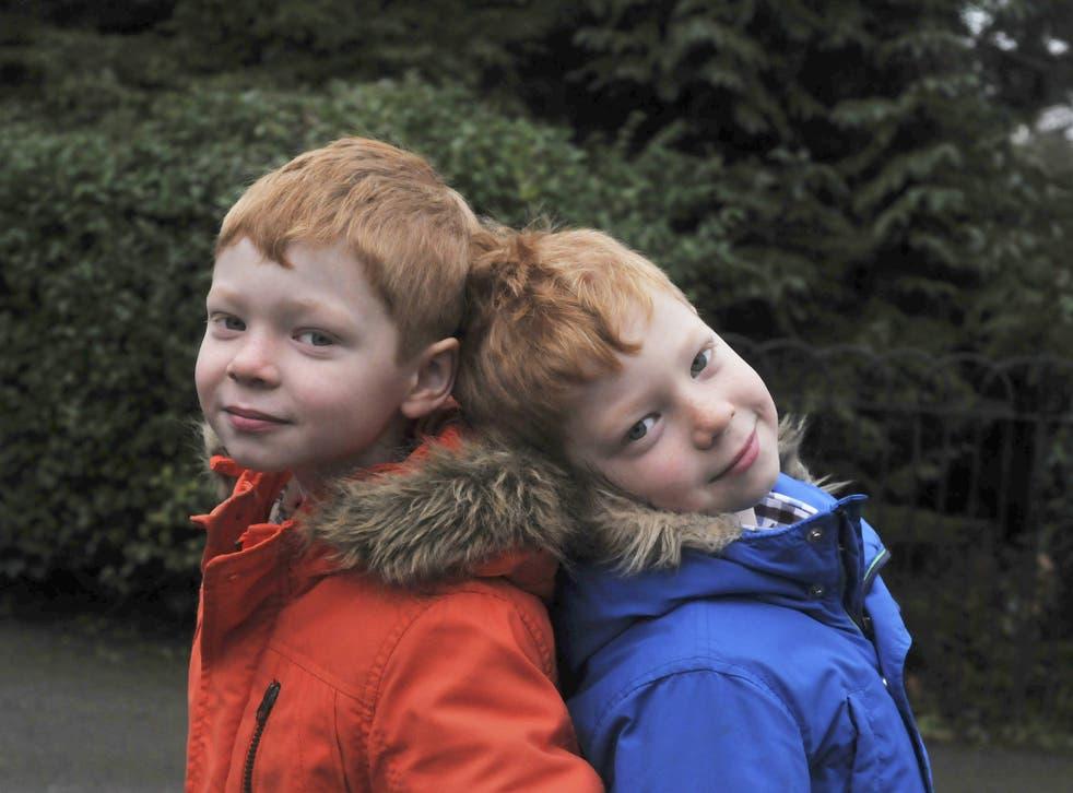 Jessica Bomford's twin boys, Kit
