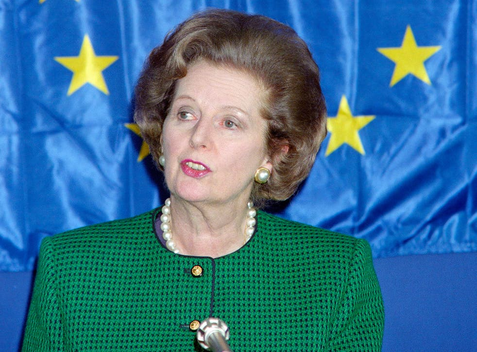 Both sides of the debate invoked the memory of Margaret Thatcher, pictured in 1989, to back their position