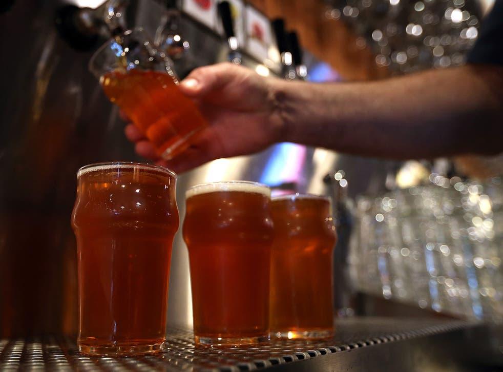 sales of beer