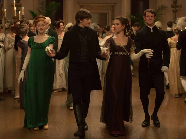 Ever charming: Sam Riley (second left) thinks Jane Austen would have loved this version