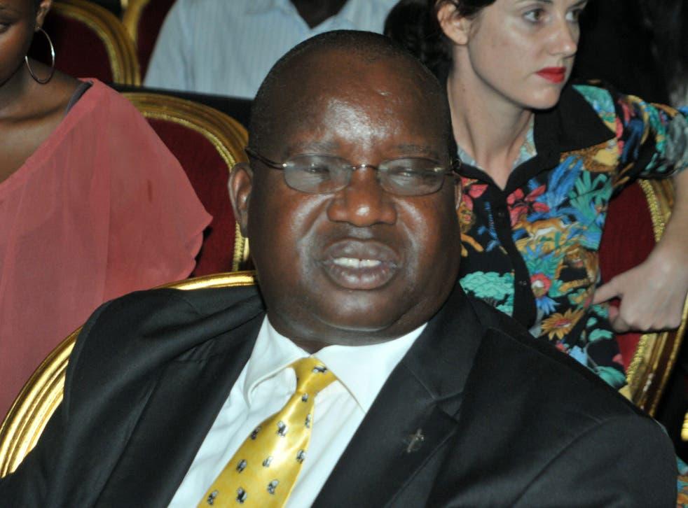 Uganda's Ethics and Integrity Minister, Simon Lokodo, in 2014