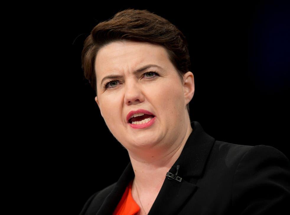 Tory leader Ruth Davidson risks a confrontation with George Osborne
