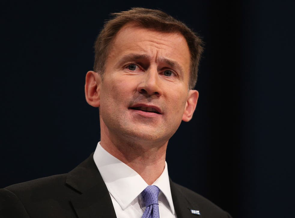 Jeremy Hunt, the Secretary of State for Health, at the Conservative Party Conference in 2013