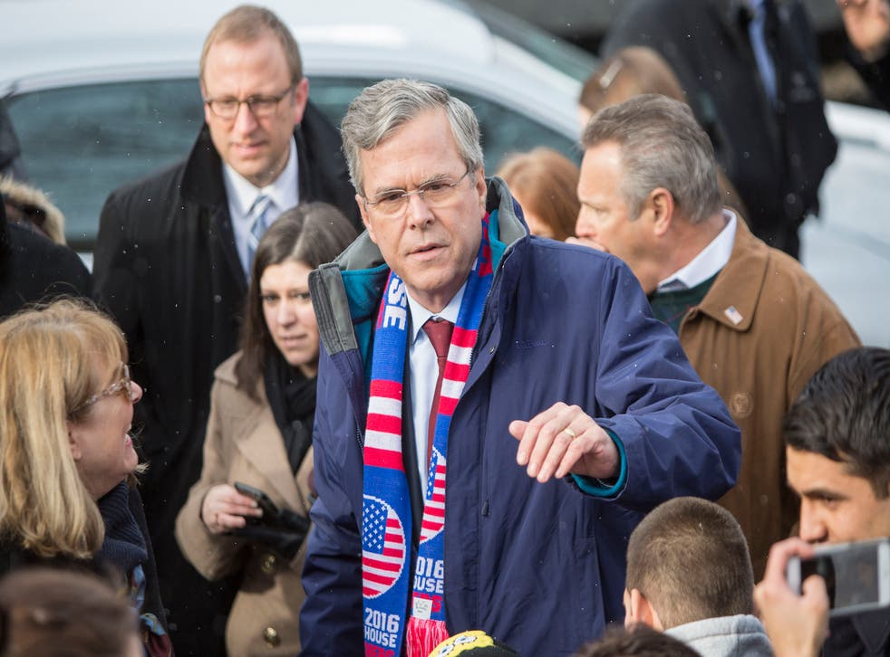 Jeb Bush has spent more than $17 million in attack ads in New Hampshire, hoping to regain traction in Tuesday's primary.