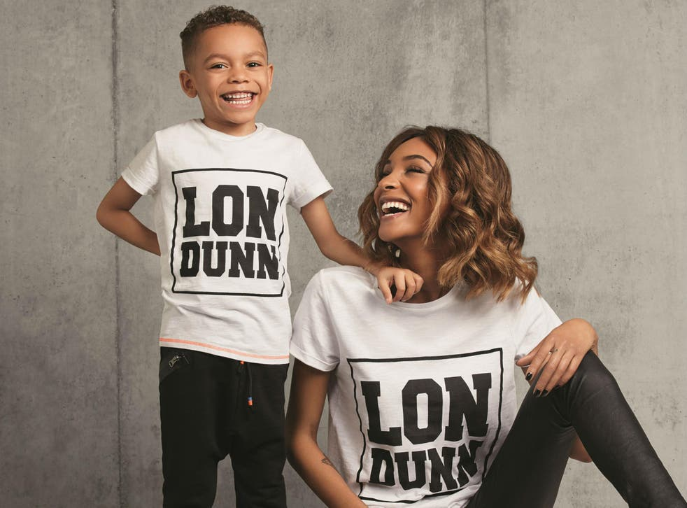 Jourdan Dunn and her six-year-old son Riley