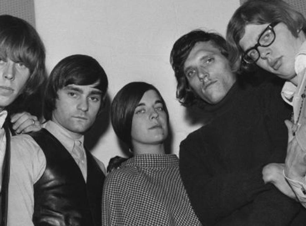 Anderson with her Airplane colleagues Marty Balin, left, and Jorma Kaukonen