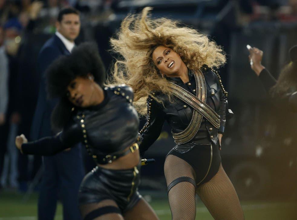 Beyonce at the Super Bowl