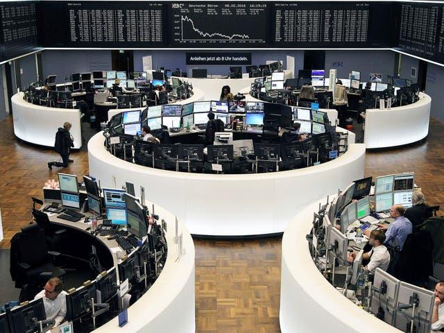 The Frankfurt exchange is among the markets feeling the heat, but Deutsche Bank says it is 'rock solid'