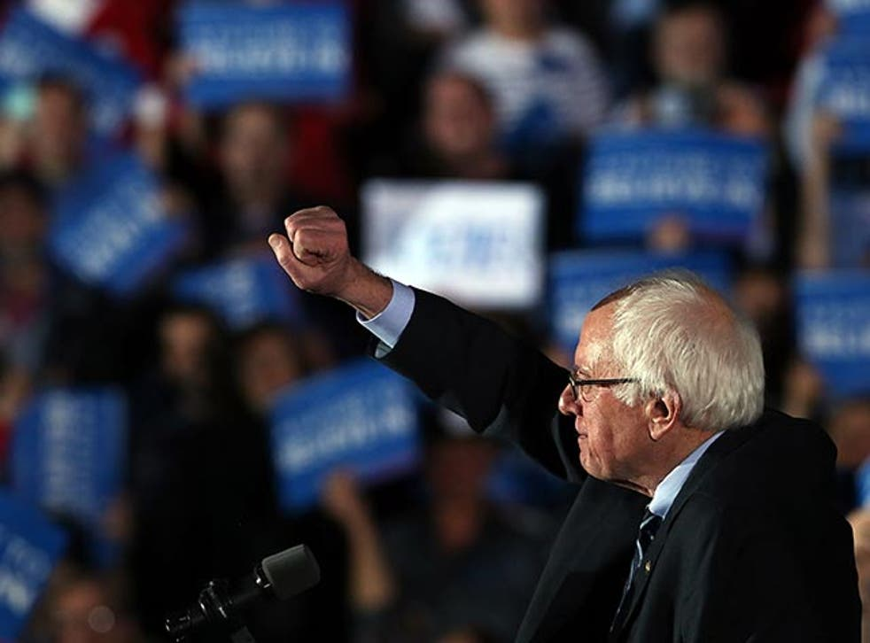 Sanders was projected the winner shortly after the polls closed in New Hampshire