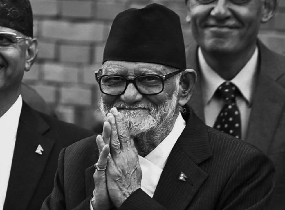 Koirala: he spent 15 years in exile in India because of his opposition to the no-party system